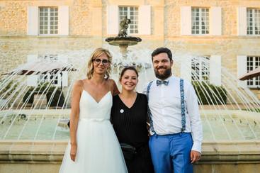 Les mariés et leur Wedding Planner