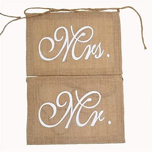 Bannière Banderole de Chaise Mr et Mrs