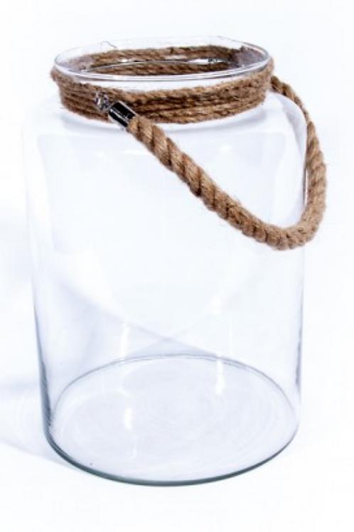 Lanterne verre cordée