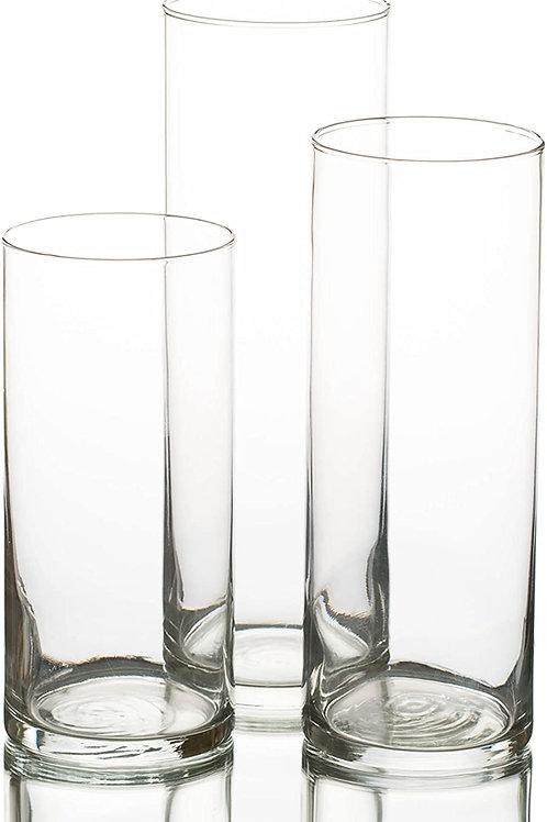 Pack de 3 vases cylindre