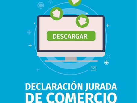 Los comerciantes podrán descargar on line las Declaraciones juradas