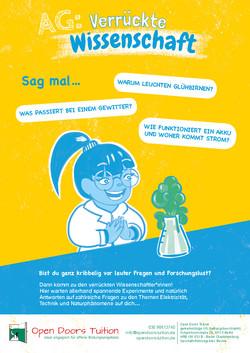 Poster Verrückte Wissenschaft AG