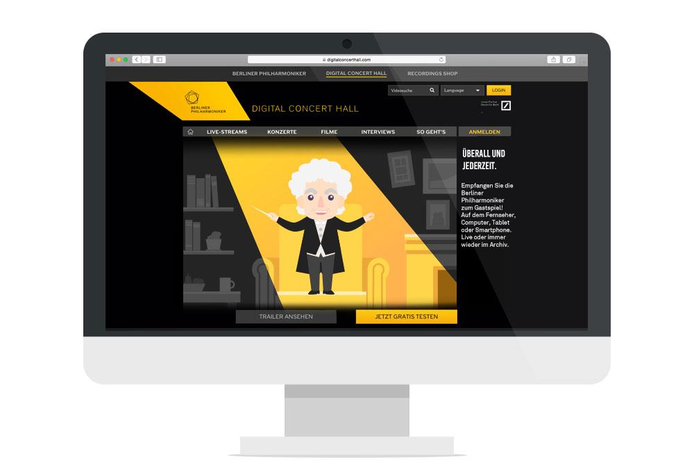 Website Start Screen