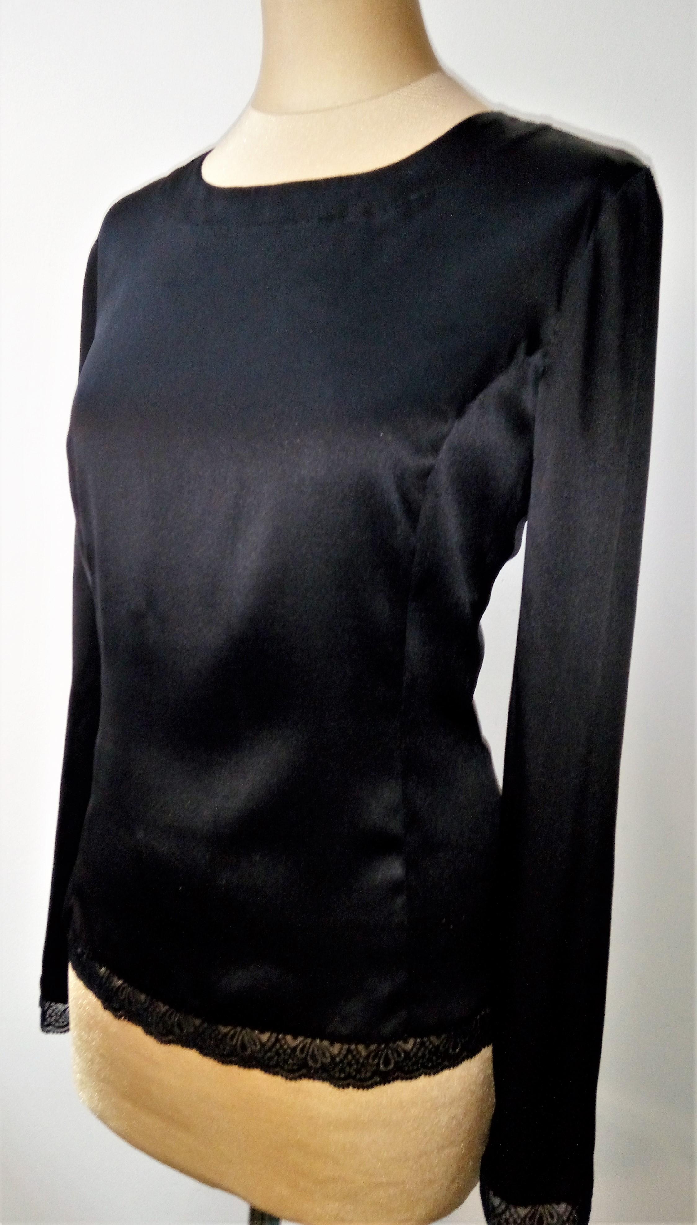 Блуза, шелк с кружевом
