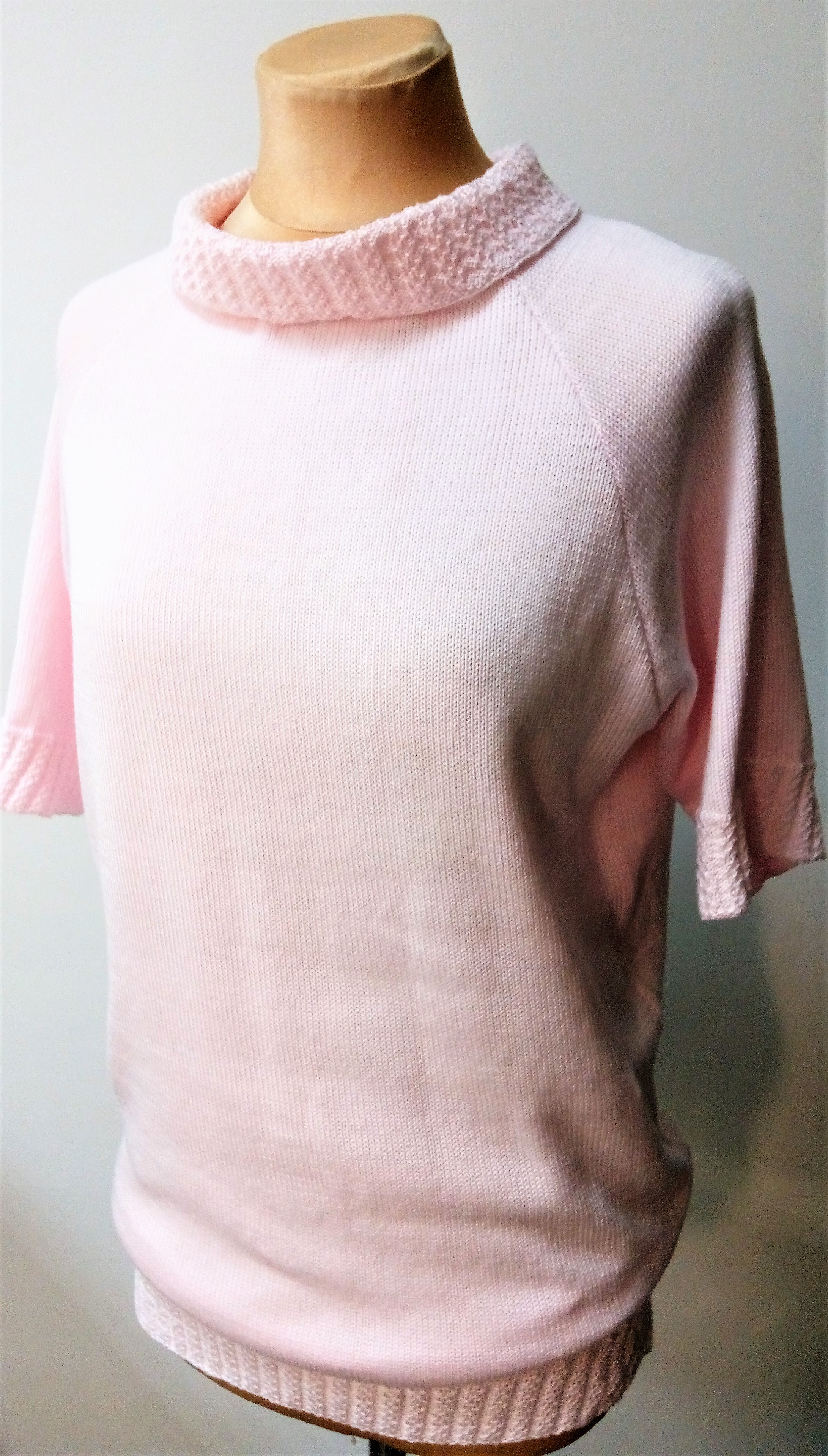 Вязаная кофта-футболка