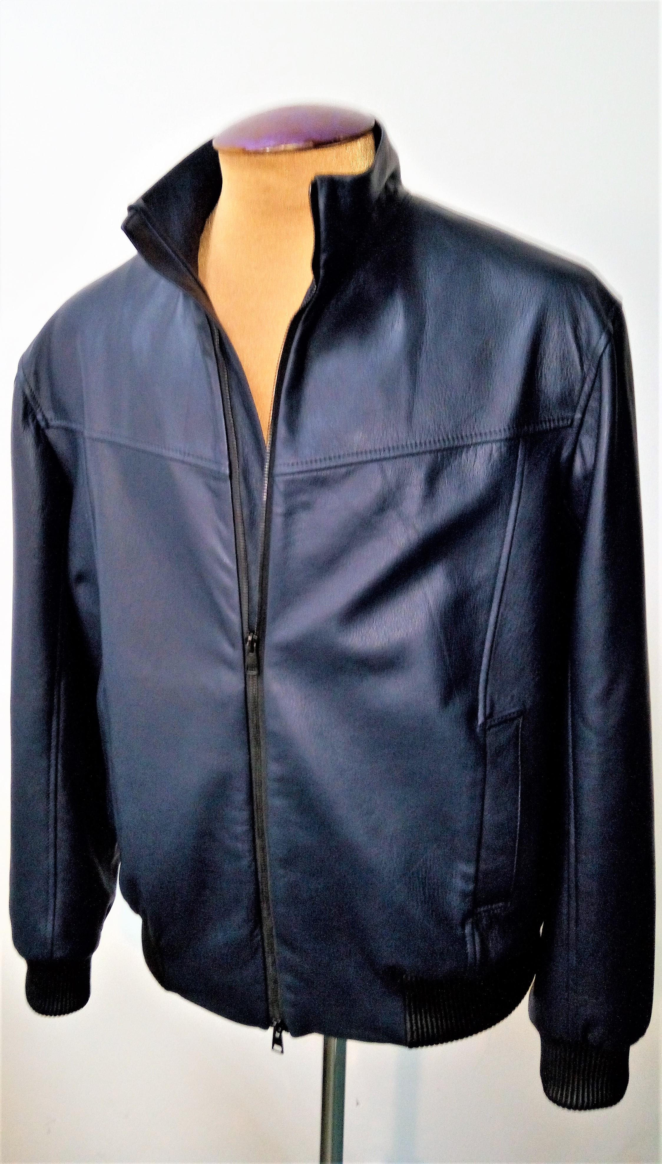 Куртка-бомбер кожаная