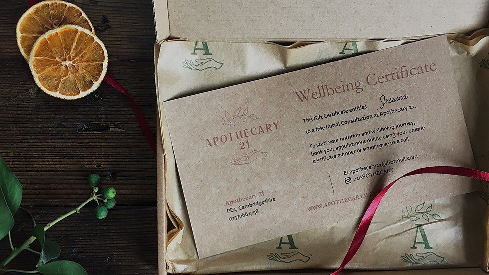 Nutrition Consultation Gift Certificate