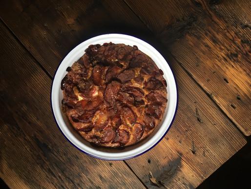 Caramelised Plum Spelt Pie