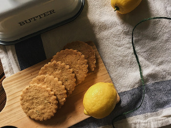 Self-care Lemon and Thyme Shortbread Biscuits