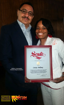 Recognized by Sen. Isadore Hall III