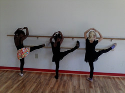 Stretching on The Ballet Barre