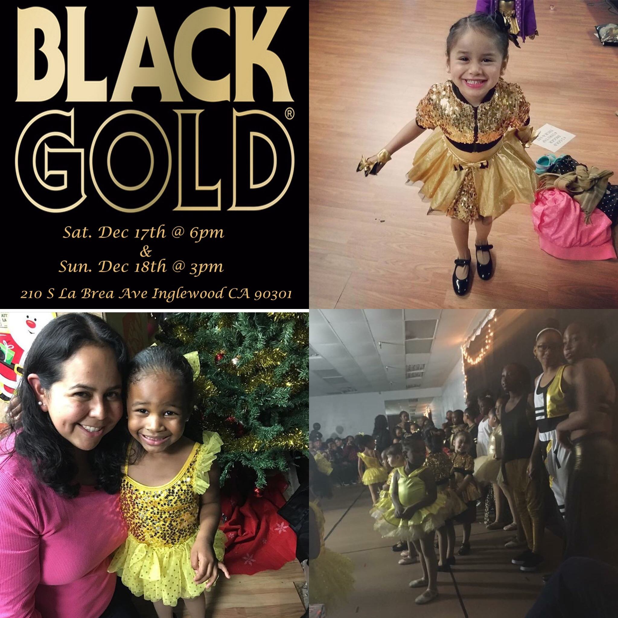 Black & Gold Winter Recital