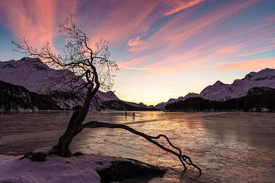 Schlittschuhlaufen auf dem Silsersee