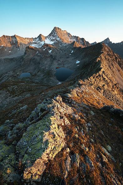 Jöriseen Sonnenuntergang - hoch