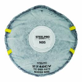 RESPIRADOR DESCARTABLE CON CARBON ACTIVO STEELPRO N95 (10 UN) 2740CV