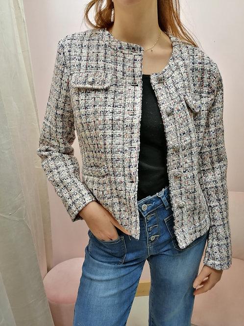 Veste style Chanel clair