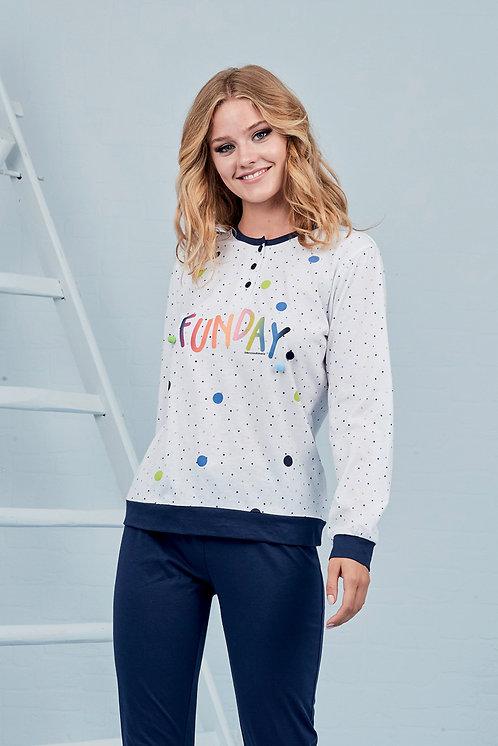 """""""Funday"""", Langarm Pyjama"""