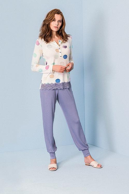 """""""Aquarello"""", Langarm Pyjama"""
