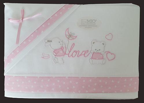 """""""Love"""", Baby Bett Set"""