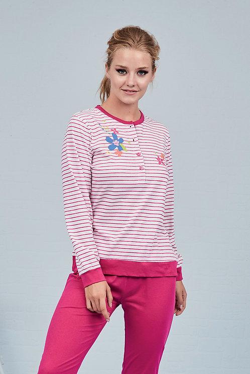 """Flowers"", Langarm Pyjama"