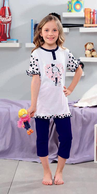 """""""Music Lover"""", Kurzarm Pyjama"""