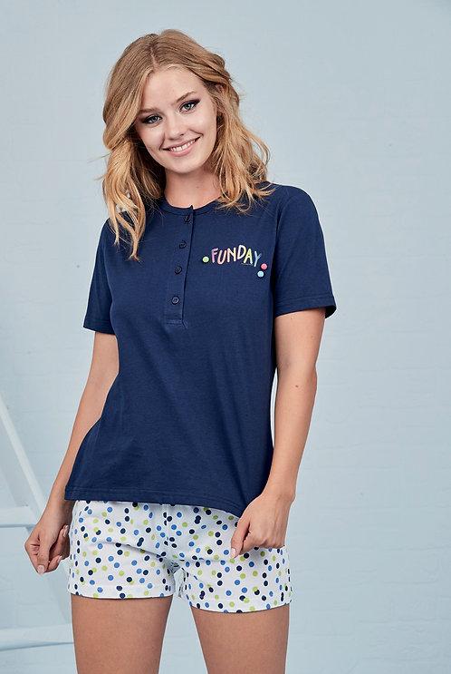 """""""Funday"""", Kurzarm Pyjama"""