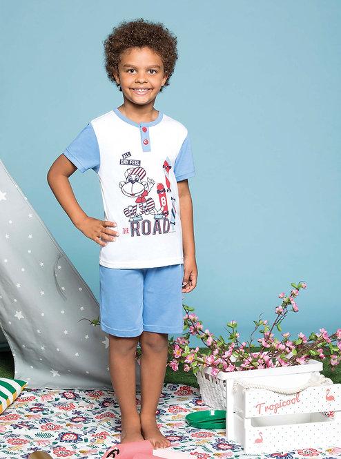 """""""Skater Monkey"""", Kurz-Arm Pyjama"""