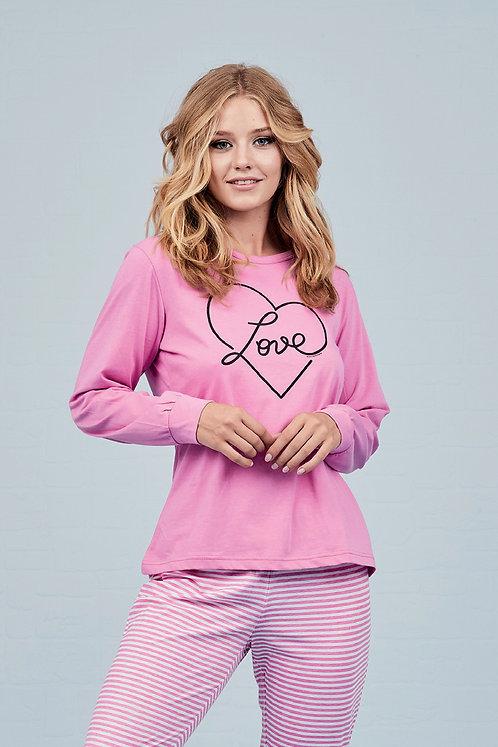 """""""Hearty"""", Langarm Pyjama"""