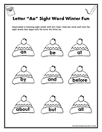 Letter Aa Sight Word Winter Fun1024_1.pn