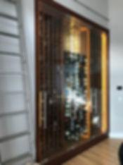 custom built-in wine cellar