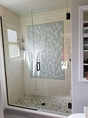 contemporary shower doors