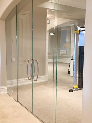interior glass barn door
