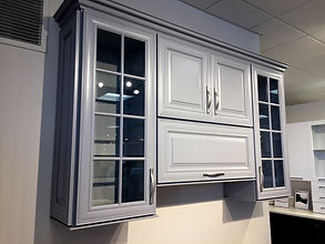 kitchen cabinets glass