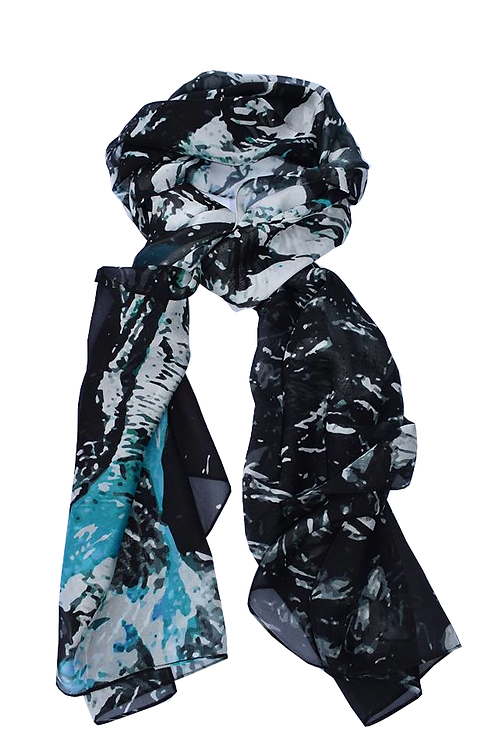 HOT SPRING  Silk Scarf