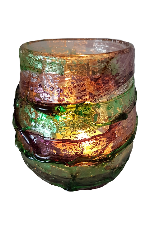 AURORA Glass Candle Holder