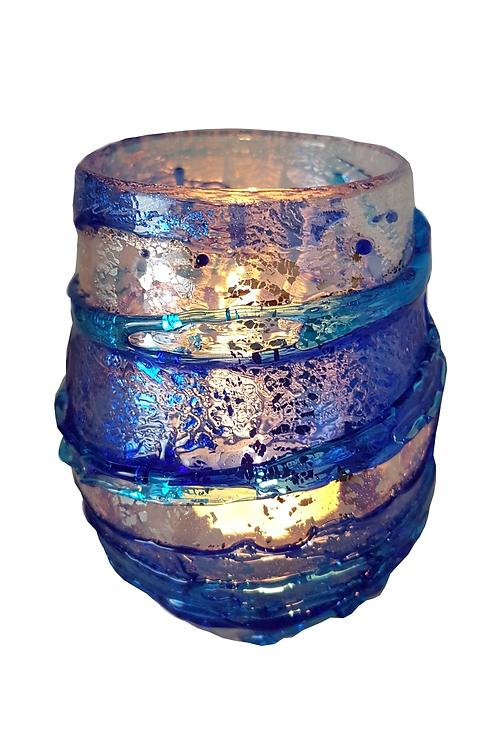 Glacier Glass Candle Holder