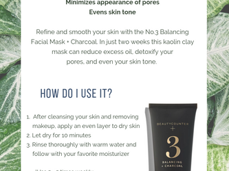 No. 3 Balancing Charcoal Face Mask