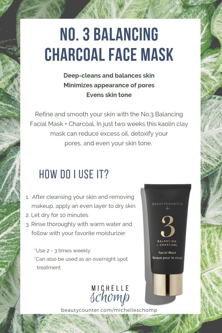 No. 3 Balancing Charcoal Face Mask
