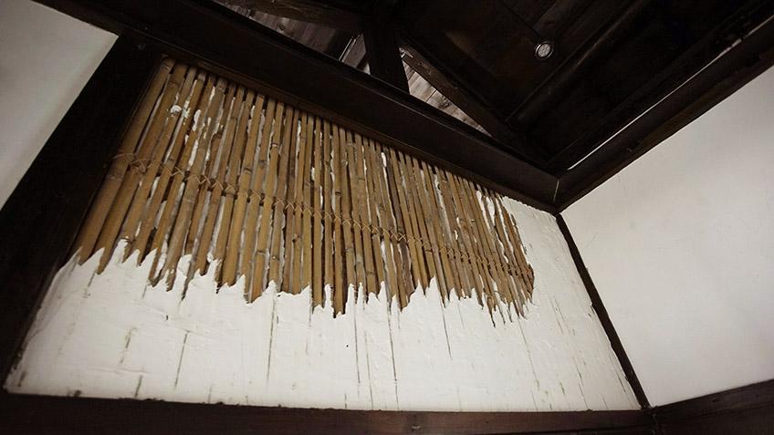 編竹夾泥牆工法展示