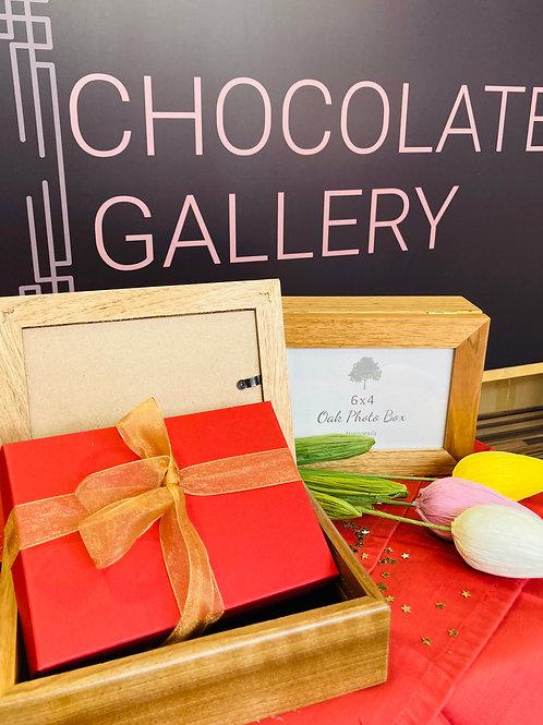 Wooden Photo Box & Chocolates