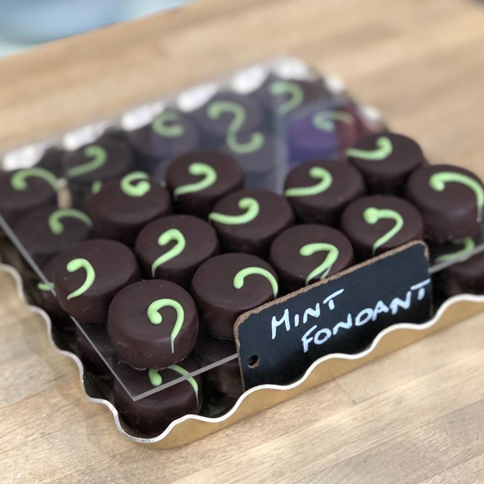 Dark chocolate mint fondant