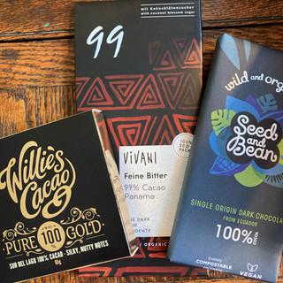 100% cocoa bars