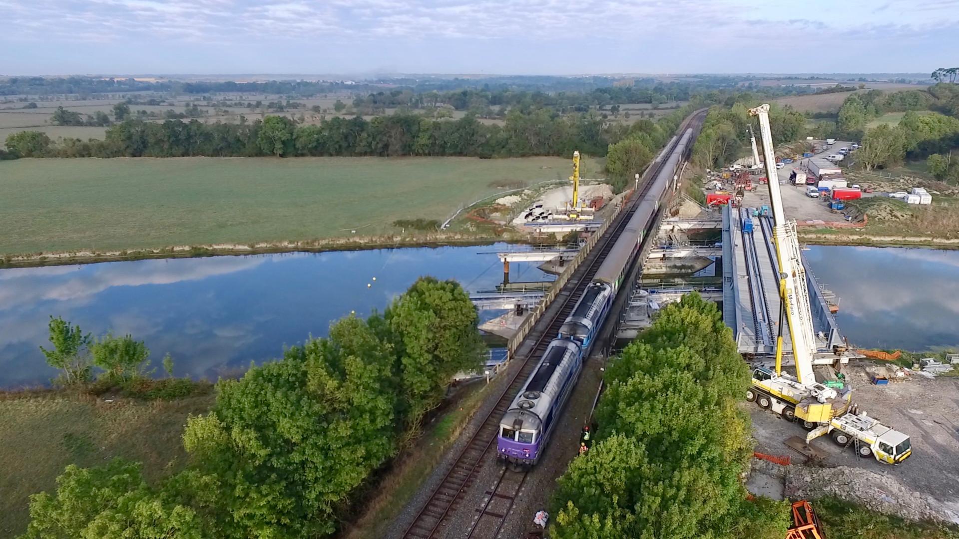Vue aérienne par drone pour SNCF Réseau