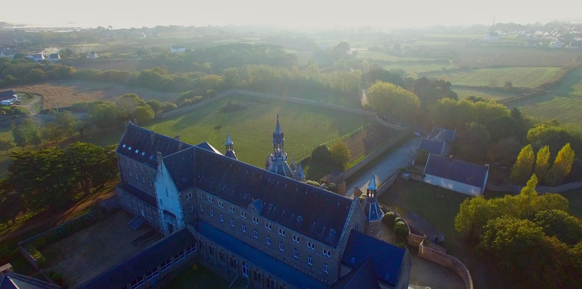 FlyUp Drone-Abbaye St Michel de Kergonan-15