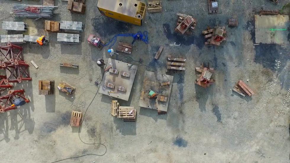 FlyUp Drone - SNCF Réseau - suivi de travaux du Viaduc sur le Lay en Vendée France