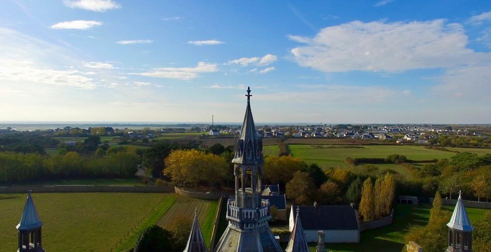 FlyUp Drone-Abbaye St Michel de Kergonan-13