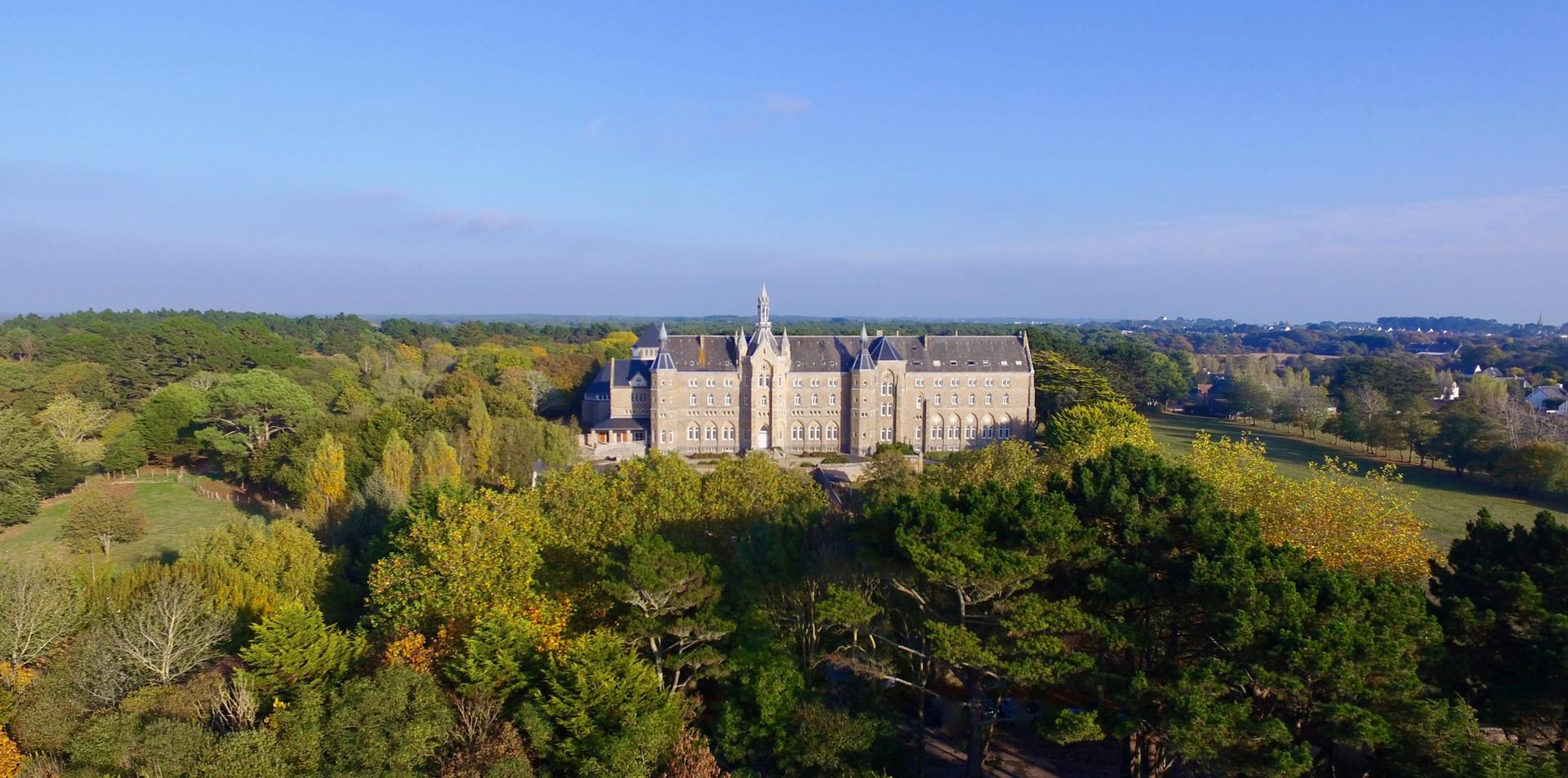 FlyUp Drone-Abbaye St Michel de Kergonan-16