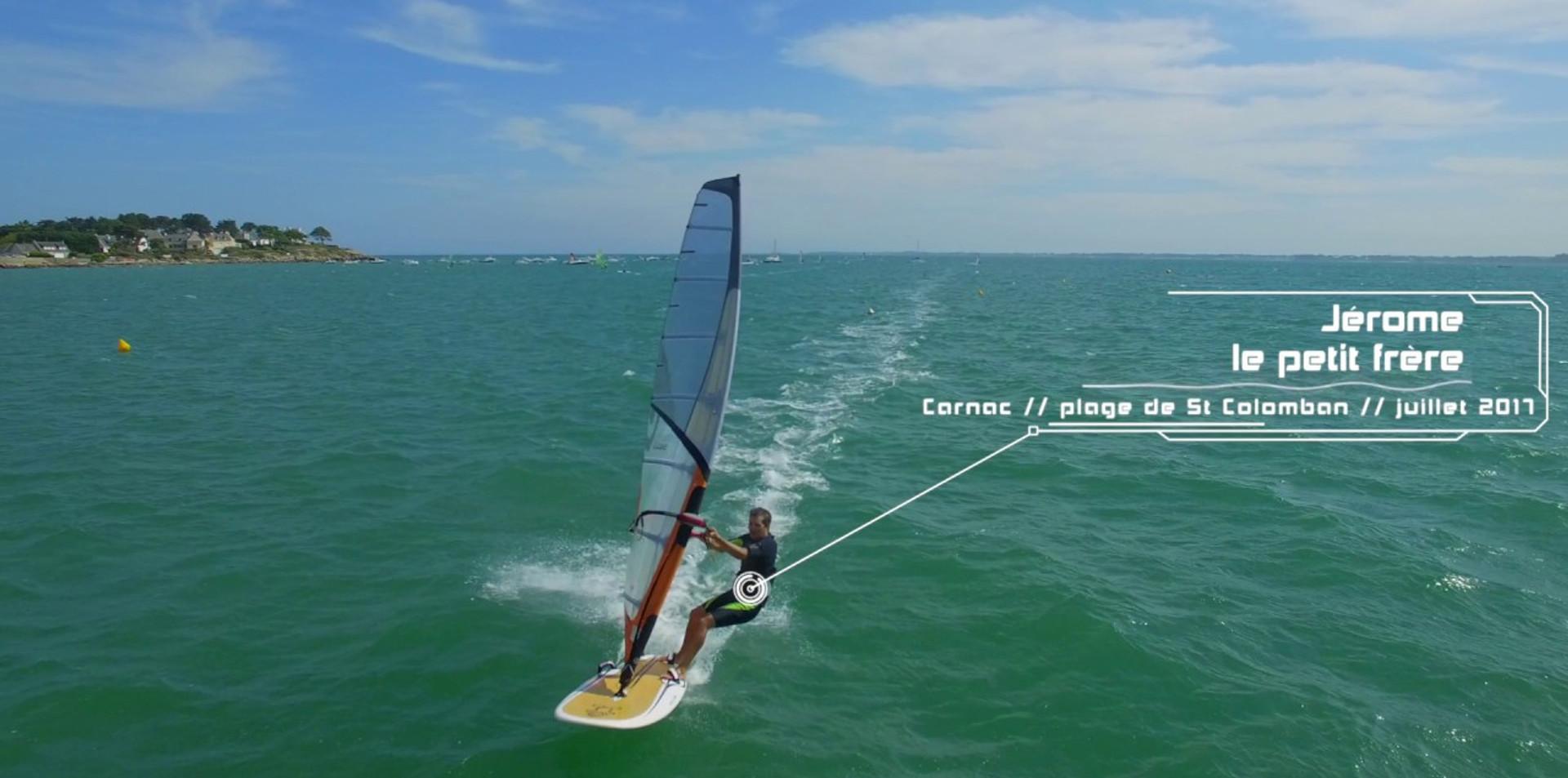 Windsurf Session sur la plage de St Colomban à Carnac