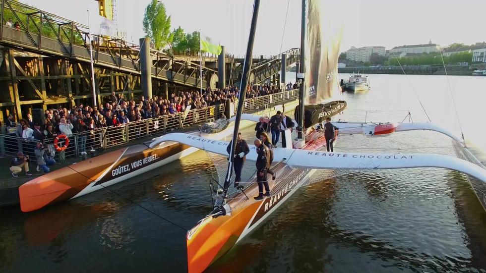 FlyUp Drone - Team Réauté Chocolat - bateau Multi 50 - Armel Tripon