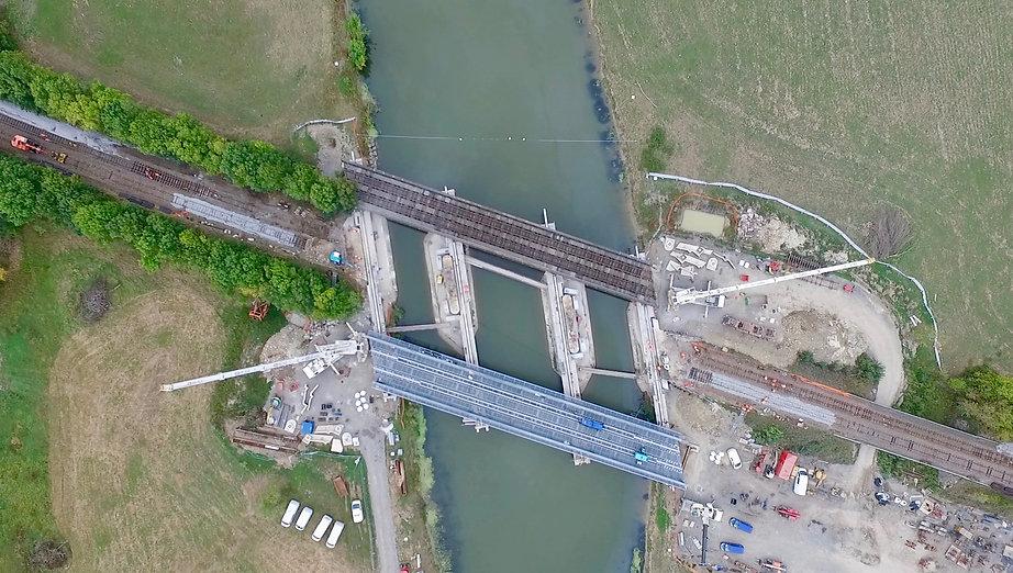 SNCF Réseau Suivi de travaux par drone. Remplacement du tablier métallique